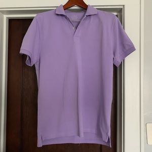 Lavender j crew polo. m. Like new